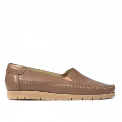 Women loafers, moccasins 6023 cappuccino