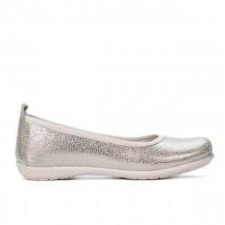 Pantofi copii 100-1 alb sidef