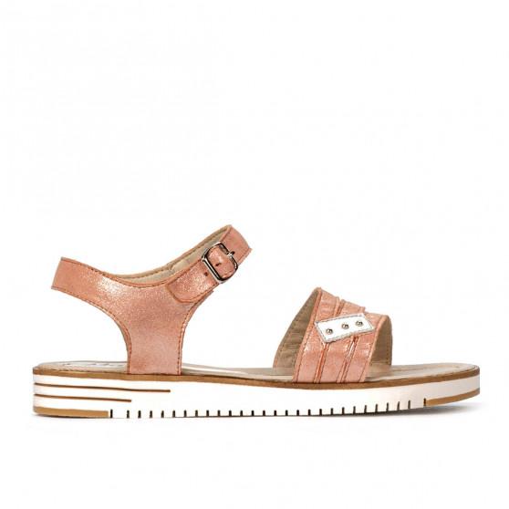 Sandale dama 5067 roz sidef combinat