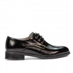 Pantofi casual dama 6020 lac negru