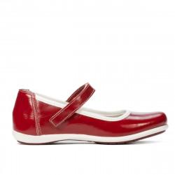 Children shoes 151-1 patent bordo
