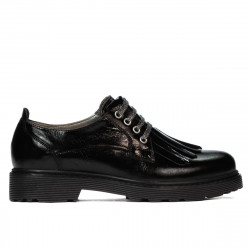 Women casual shoes 6025 patent black