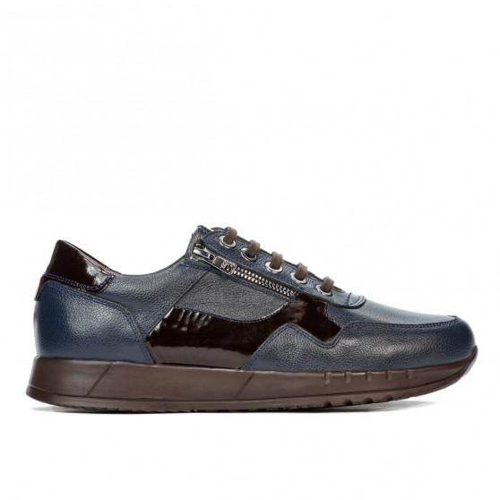 Pantofi casual/sport barbati 916-1 indigo combinat