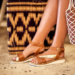Sandale dama 5060 maro combinat