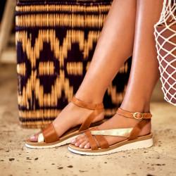 Women sandals 5060 brown combined