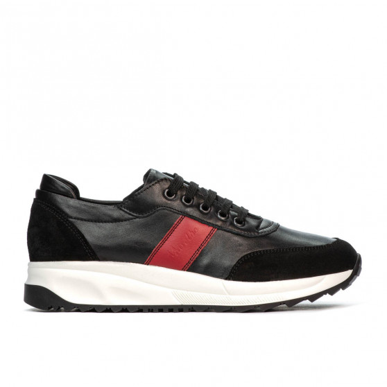 Pantofi sport dama 6030 negru+rosu
