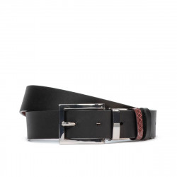 Women belt 19m black+piton bordo (bicolored)
