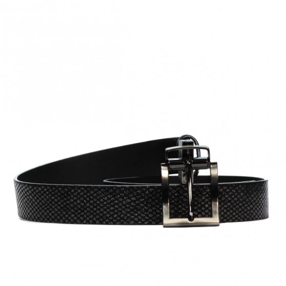 Women belt 18m black+piton black