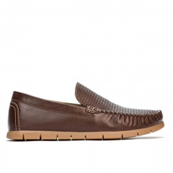 Men loafers, moccasins 912 brown