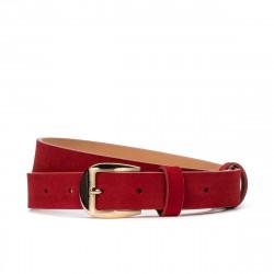 Women belt 01m red velour