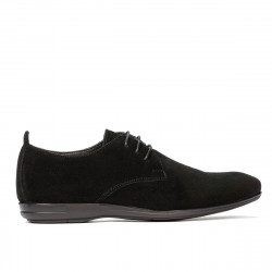 Pantofi casual barbati 816 negru velur