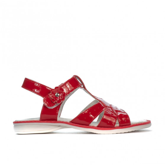 Small children sandals 18c patent red