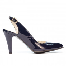 Women sandals 1236 patent indigo
