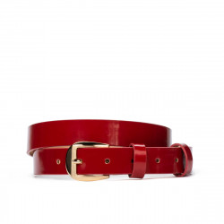 Women belt 01m patent red