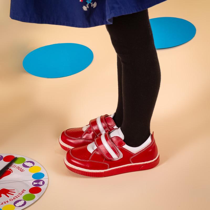 Pantofi copii mici 64c rosu+alb lifestyle
