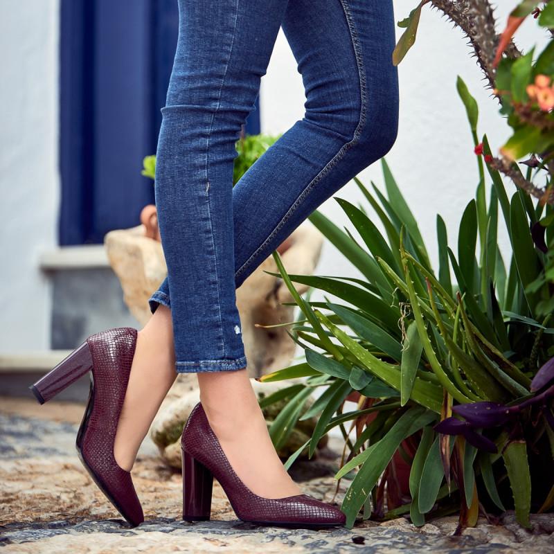 Pantofi eleganti dama 1261 piton bordo lifestyle