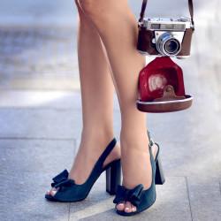Women sandals 1256 turcoaz antilopa