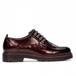 Women casual shoes 6025 patent bordo