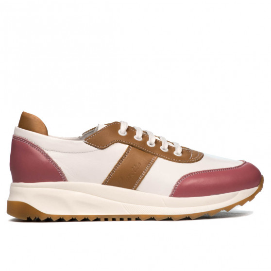 Pantofi sport dama 6030 roz+alb