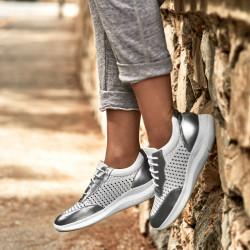 Women sport shoes 6024 silver+white