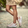Pantofi sport dama 6024 pudra+alb lifestyle