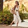 Women sandals 5070 brown+silver
