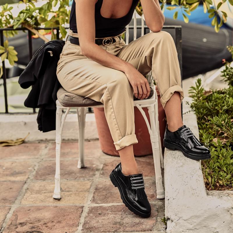 Pantofi casual dama 6025 lac negru lifestyle