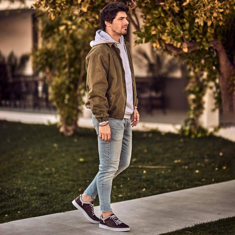 Pantofi sport barbati 913 bordo lifestyle