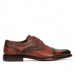 Men stylish, elegant shoes 880 a cognac combined