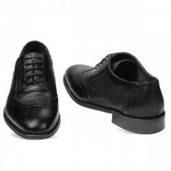 Men stylish, elegant shoes 922 black combined