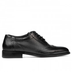 Men stylish, elegant shoes 922 black combined