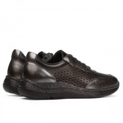 Pantofi sport dama 6024 argintiu+negru