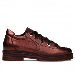 Women casual shoes 6026 bordo pearl combined