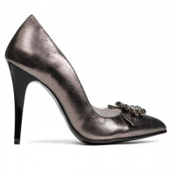 Women stylish, elegant shoes 1279 silver pearl