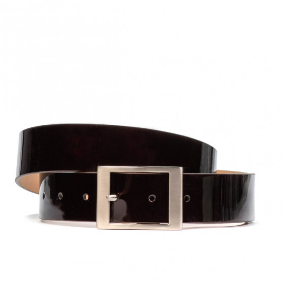 Women belt 02m patent bordo