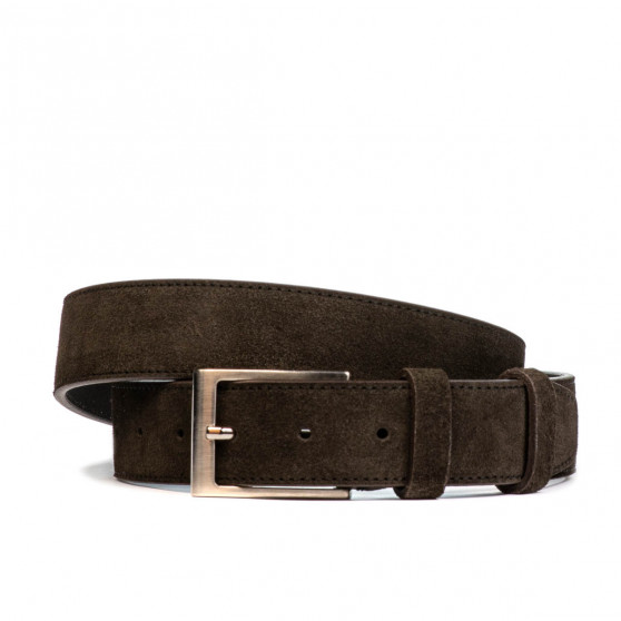 Men belt 05bc brown velour