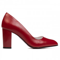 Women stylish, elegant shoes 1278 red