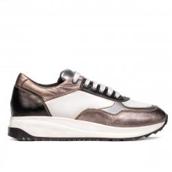 Pantofi sport dama 6028 alb combinat