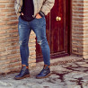 Ghete barbati 4119 indigo combinat lifestyle