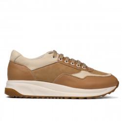 Pantofi sport dama 6028 nisip combinat