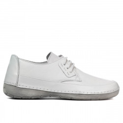 Women loafers, moccasins 672s white