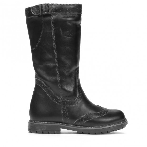 Small children knee boots 30c black