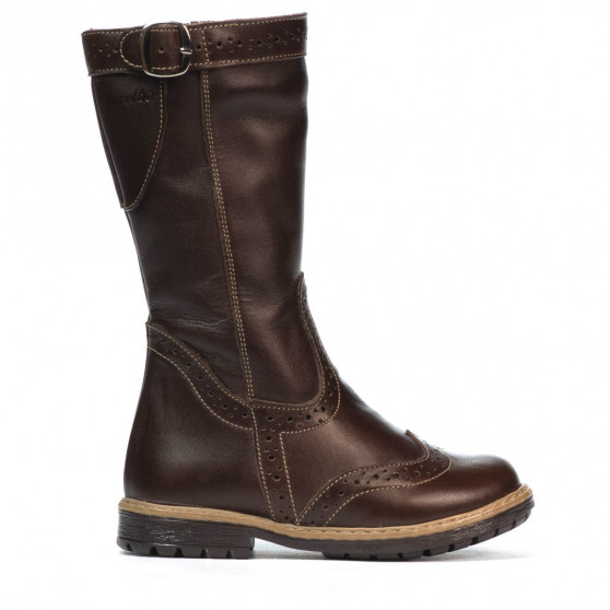 Small children knee boots 30c cafe