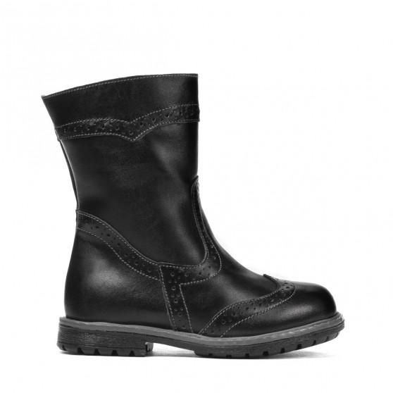 Small children knee boots 31c black