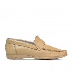 Women loafers, moccasins 189 beige