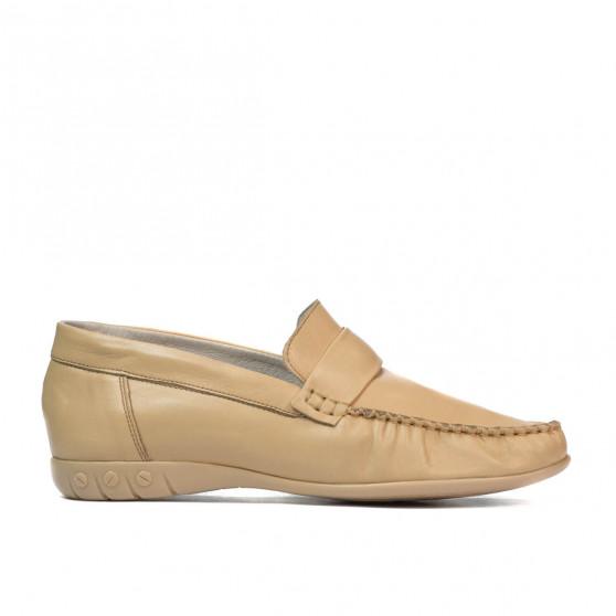 Women loafers, moccasins 189 beige