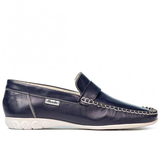 Women loafers, moccasins 189 indigo
