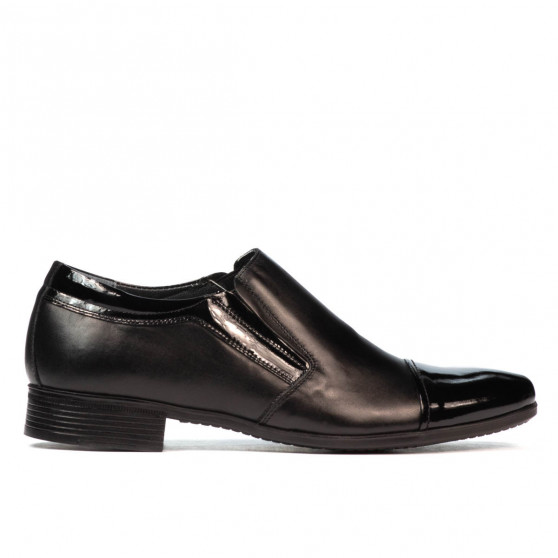 Men stylish, elegant shoes 740 patent black combined