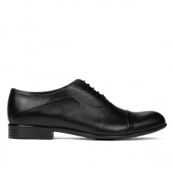 Men stylish, elegant shoes 762 black