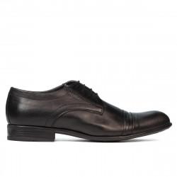 Men stylish, elegant shoes 763 black